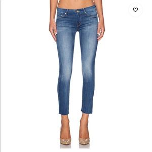 Mother Jeans Looker Ankle Fray in Wicked Games